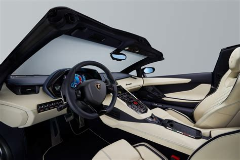 lamborghini aventador s roadster interior 2018 lamborghini aventador s roadster specs price photos review