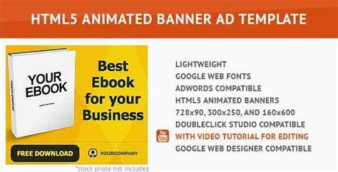 15 Creative Html5 Ad Templates With Css Animations Html5 Banner Template