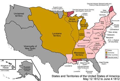 map of the united states during 1812 miranda s dream 161 por una latino am 233 rica fuerte a gran