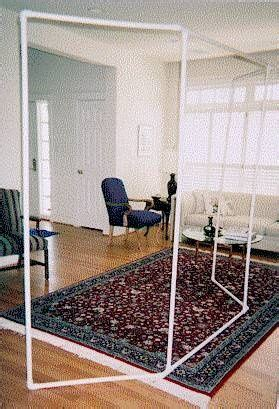 cheap easy room divider  hang fabric