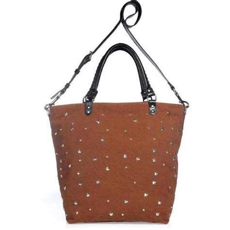 Rika Canvas Shopper by Rika The Loulou Canvas Bag With Studs