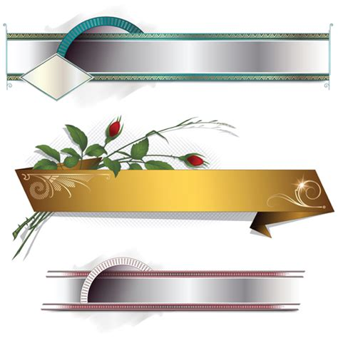 banner design vector file banners with decorative vector 04 vector banner free