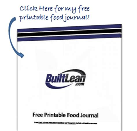 printable food journal builtlean best free printable food journal template builtlean