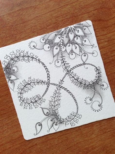 zentangle pattern growth tangled zentangle and vines on pinterest