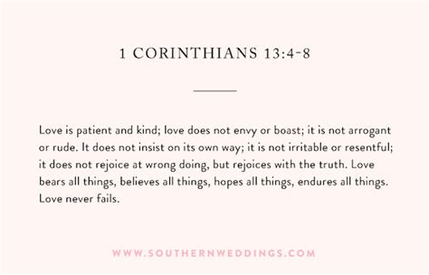 Wedding Bible Readings 15 by 1 Corinthians 13 Ceremony Reading