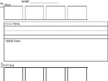 templates for sight words cut paste sight word sentence blank template