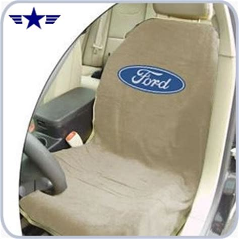 2010 mustang seat covers 2010 2014 mustang beige seat cover with ford logo