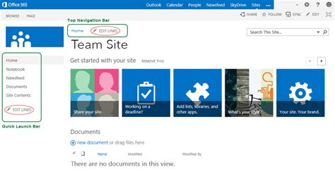 8 Tips To Design Effective Sharepoint Team Site Sharepoint Home Page Templates