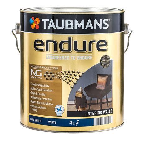 taubmans endure 4l white low sheen interior walls paint - Taubmans Interior Paint