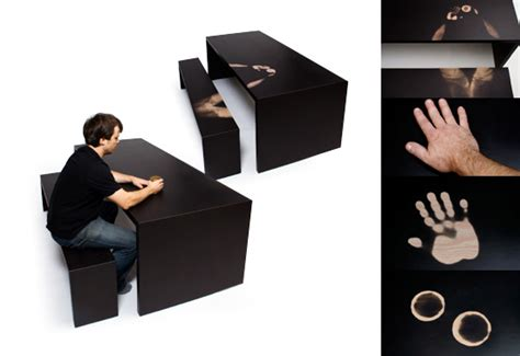 Thermochromic Table by The A Longer Thermochromic Table Bench Gift