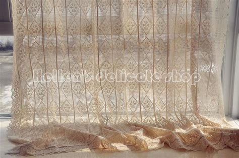 french country lace curtains french country cotton thread crochet lace curtain panel