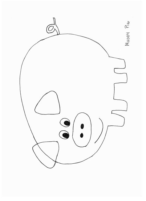 pig template muddy pig craft template jpg creativity