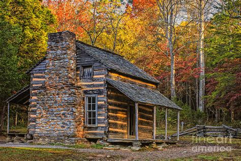 My Smoky Mountain Cabins by Oliver S Cabin In Great Smoky Mountains Photograph By
