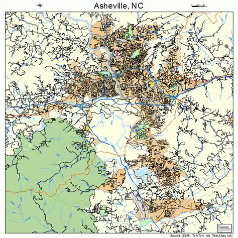 map of asheville nc asheville carolina map 3702140