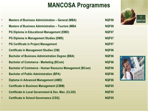Mancosa Mba Modules by Mancosa Overview 2010