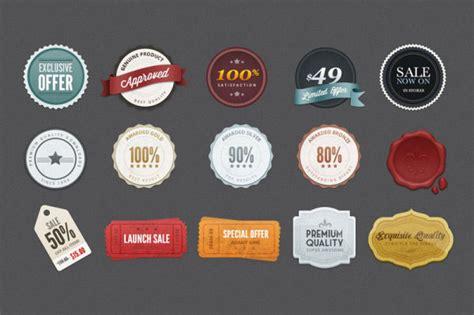 label design templates psd 無料素材 レトロ感のあるラベルのpsd素材 値札やディスカウントのラベル15種類