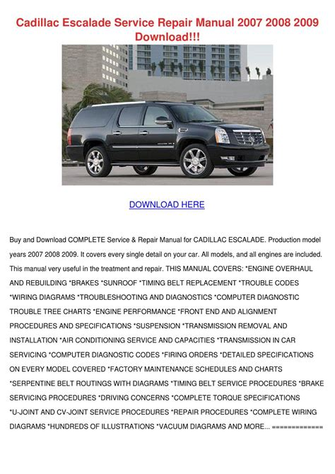 chilton car manuals free download 2007 cadillac escalade regenerative braking cadillac escalade service repair manual 2007 by elissadelgado issuu