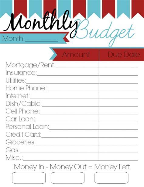 Galerry budget planner printable worksheet free