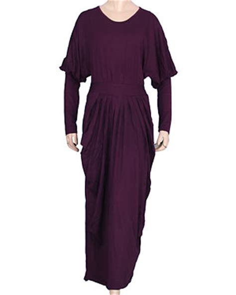 Dress Polos Spandek nafira jilbab fashion gamis dress polos spandex