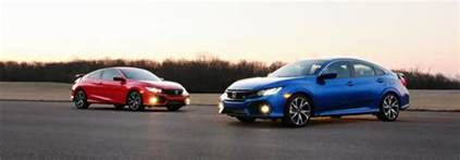 compare the 2017 honda civic si coupe vs sedan