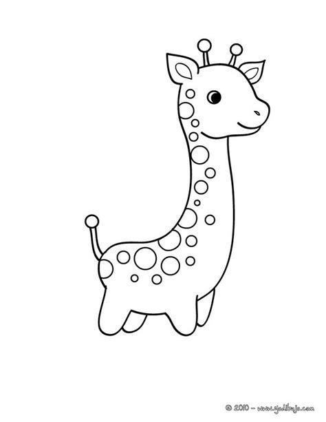 imagenes de jirafas para pintar dibujos animales de la sabana para colorear bebe jirafa
