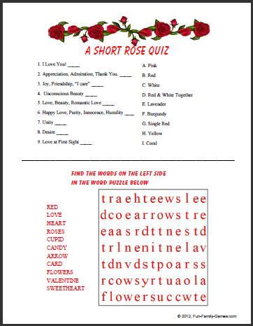 printable love quiz a valentine trivia quiz to test your knowledge of the love