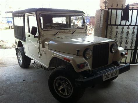 thar jeep white mahindra thar di jeep