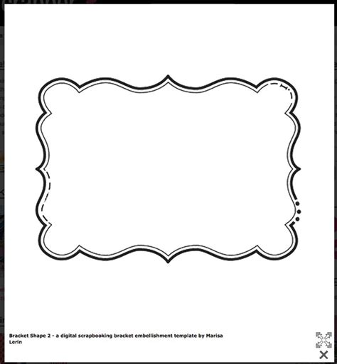 Bracket Shape Free Templates Cards Envelopes Pinterest Shape Templates Free Label Free Tags Templates