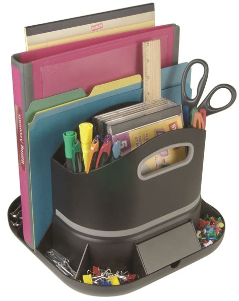 Rotating Desk Organizer Staples 14470 Us Spinworx Rotating Desk Organizer Ebay