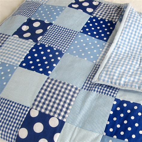 Patchwork Quilts For Children - patchwork quilt personalised and boys by the