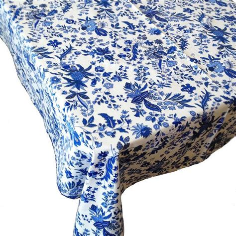 country tablecloth blue and white by cranberrymak