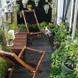 Small balcony furniture in garden ideas