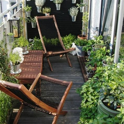 Ideas For Small Balcony Gardens Small Balcony Furniture In Garden Ideas