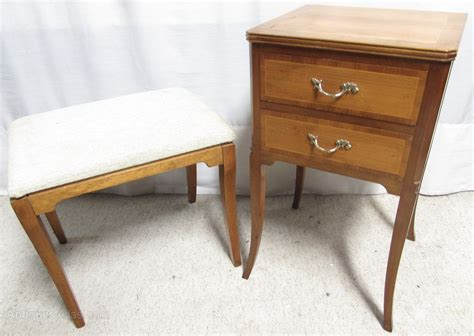Stool As Bedside Table by Walnut Dressing Table Stool Bedside Drawers Antiques Atlas