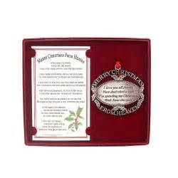 merry christmas from heaven pewter christmas ornament
