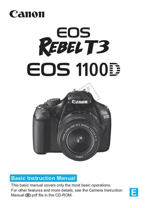 Canon Eos 1100d Manual Canon Eos 1100d Manual