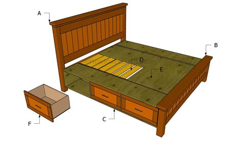 plans for a bed frame how to build a platform bed frame with headboard the