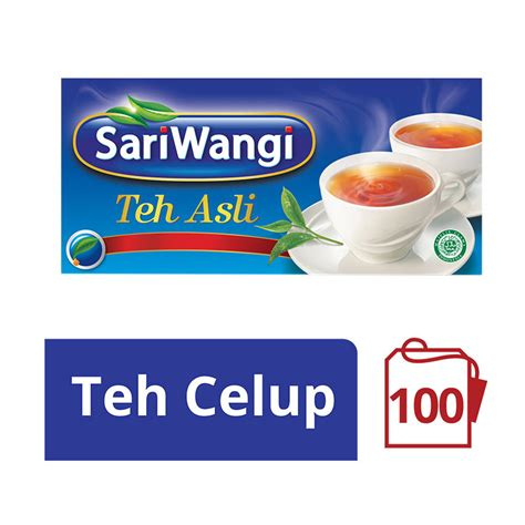 Teh Celup Sariwangi Isi 50 jual sariwangi teh asli 1 85 g x 100 pcs 21132654 harga kualitas terjamin blibli