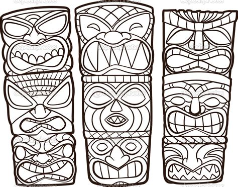 Tiki Coloring Pages Bestofcoloring Com Tiki Coloring Pages