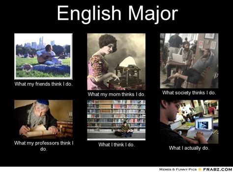 English Major Meme - english major meme