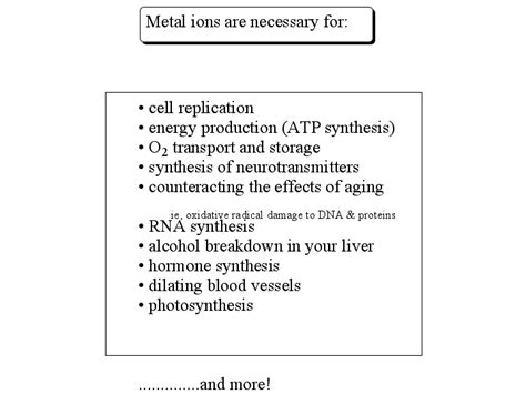 the role of ions in body chemistry bob mccauleys blog group members