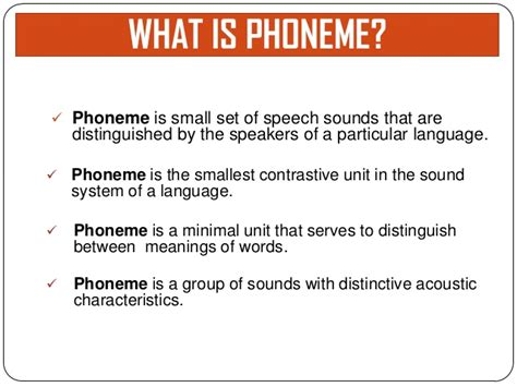 what does phonology mean 8 single phoneme phonological development