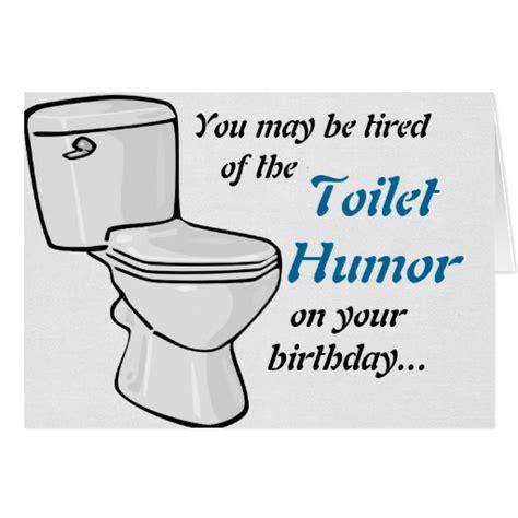 Bathroom Humor Puns Toilet Humor Birthday Card Zazzle