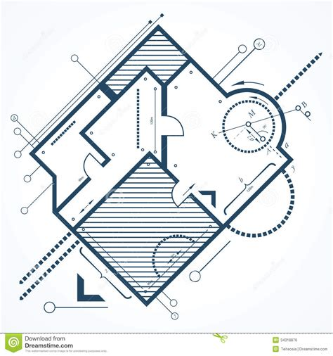 Architectural Background Stock Vector Image Of Element Architectural Drawings Vector
