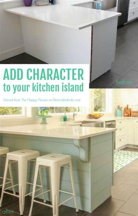 Update A Plain Kitchen Island Or Peninsula With Planks And   update a plain kitchen island or peninsula with planks and