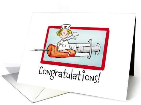 congratulations on nursing school nurse graduation congratulations card 835816
