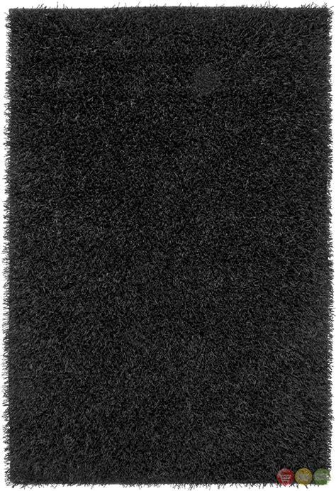 shag rug black rizzy rugs black shag tufted area rug kempton km1593