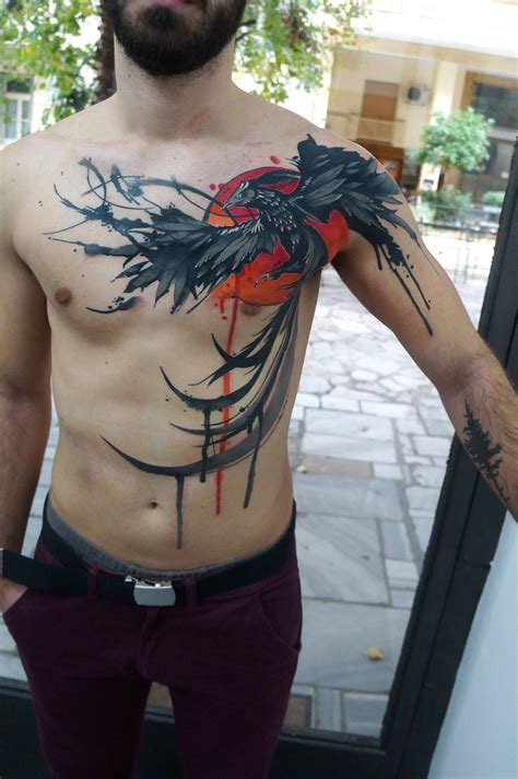 watercolor tattoo greece artist dynoz inked this watercolor