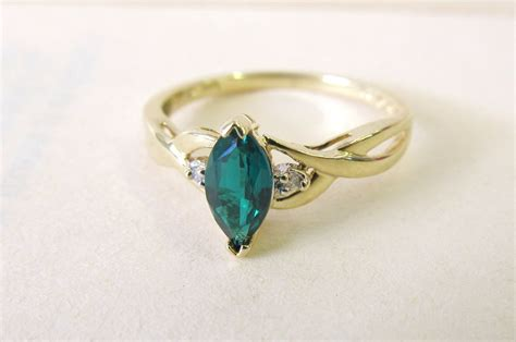 vintage emerald engagement ring celtic by fergusonsfinejewelry