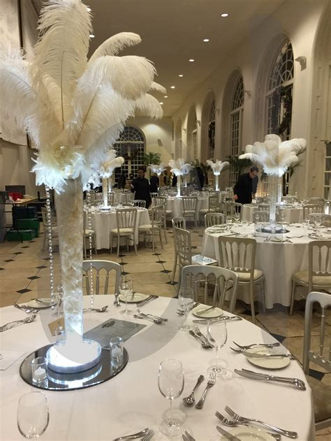 Off White Ostrich Feather   Hire   So Lets Party